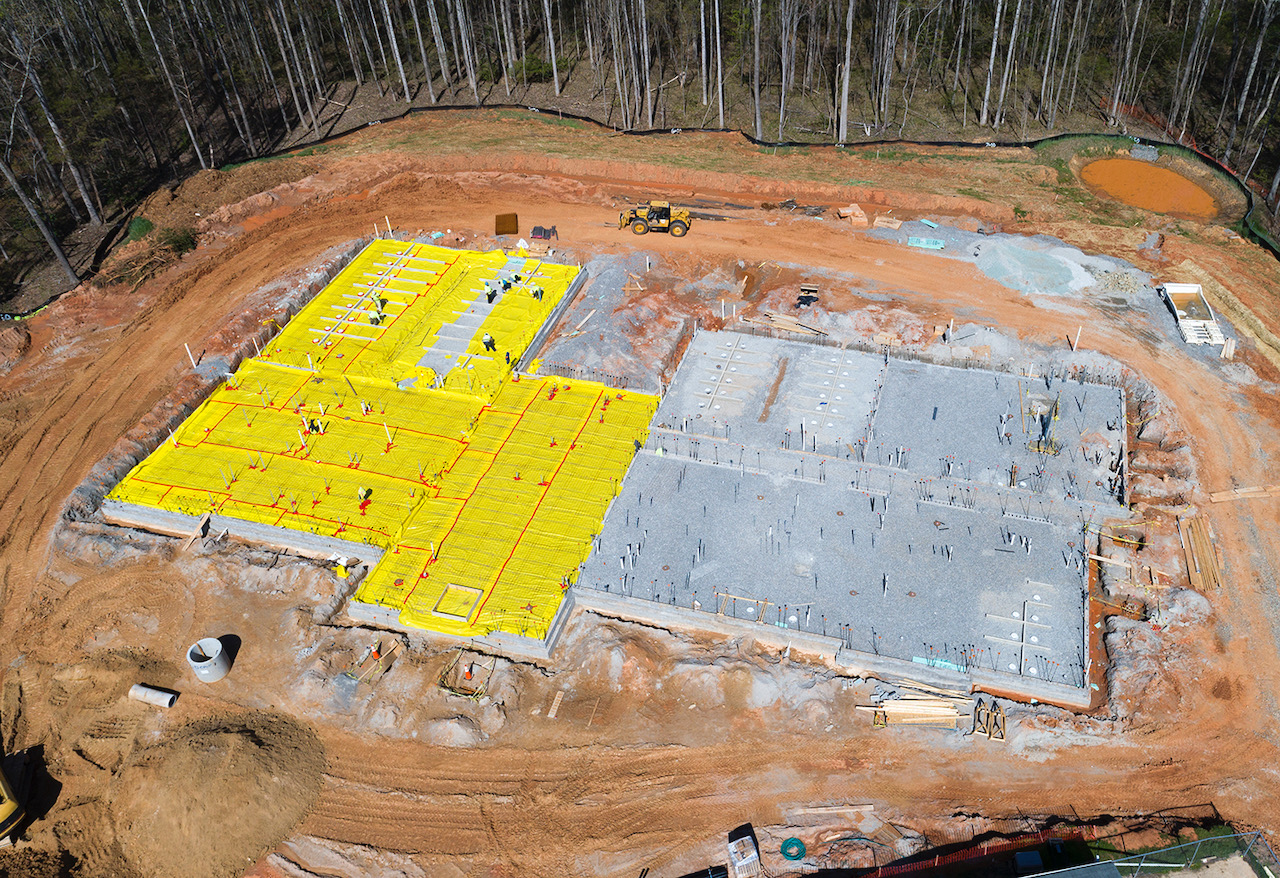 Drone View of Foundation